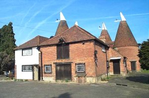 Oast house with a range of farm buildings For Sale Kent