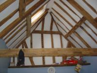 Oast House beams in one of four bedrooms