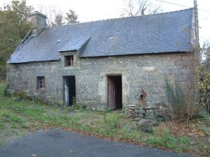 Unconverted barn in Pontivy, Brittany, France