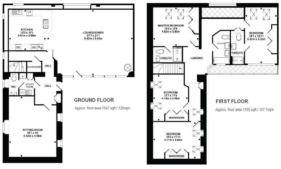 Barn conversion floor plans Barn house layouts