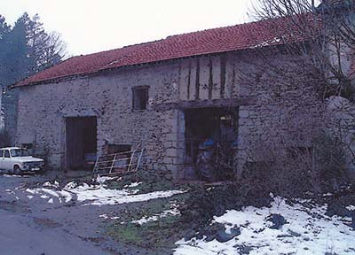 House And Barn In Courtyard In Limousin France