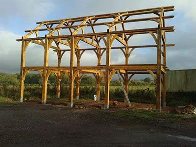 Craftsman made oak barn frame for sale