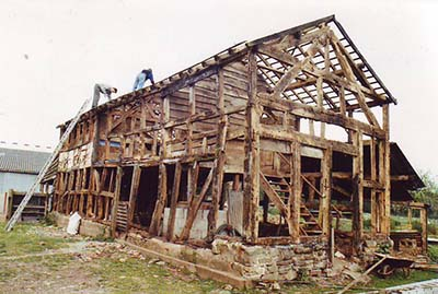 Unconverted box timber framed house