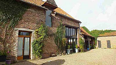 Two converted barns in Saulchoy in the Nord Pas De Calais