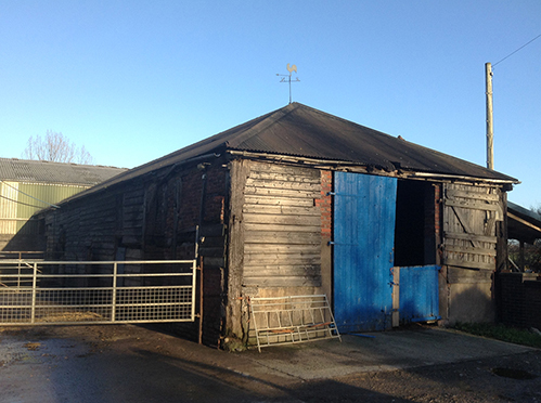Barn frame for sale at Welshpool, Mid Wales