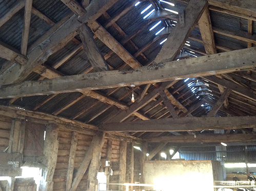Oak barn for sale near Welshpool, Mid Wales
