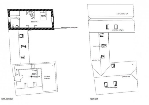 Floor plans for unconverted barn Kent