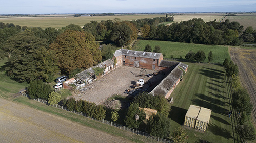 Courtyard Of Unconverted Barns for sale In Crowland Lincolnshire