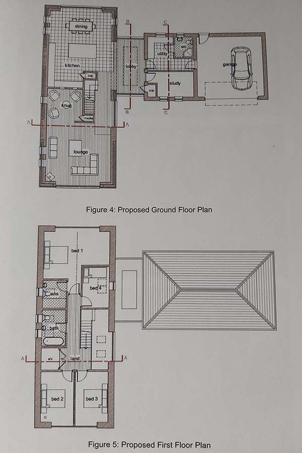 Floorplan of Barn conversion for sale in Gorefield, Wisbech, Cambs