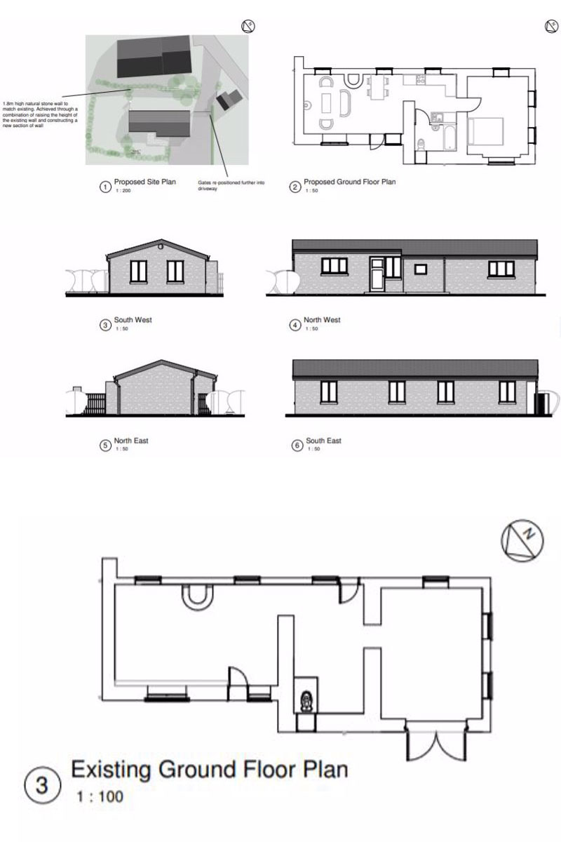 Floorplan of Unconverted barn  for sale near Hereford