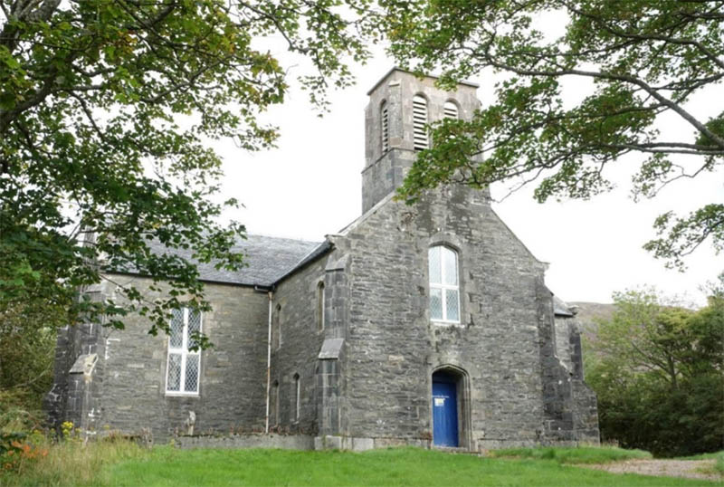 Unconverted church for sale in Lochaber in the Scottish Highlands, near Fort William