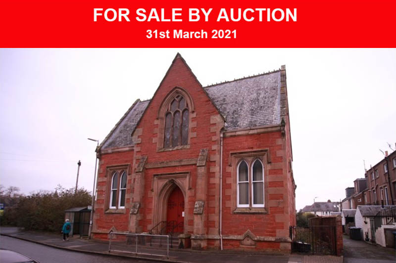Former church for sale in Kelso, Scottish Borders