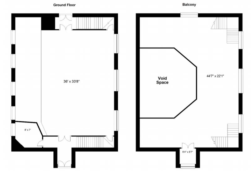 Floorplan of Unconverted church for sale Eskdalemuir, Langholm
