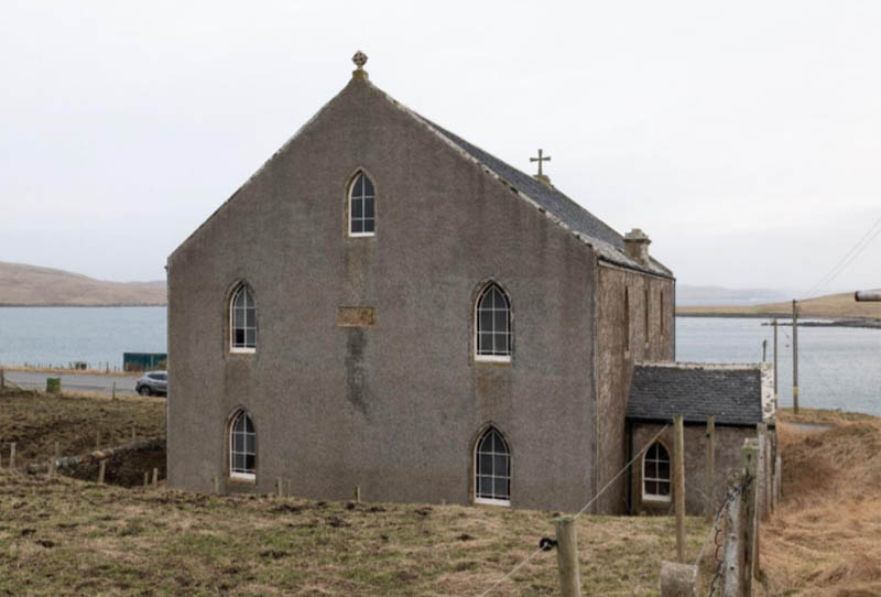 Former church for sale in Hillswick on the island of Shetland
