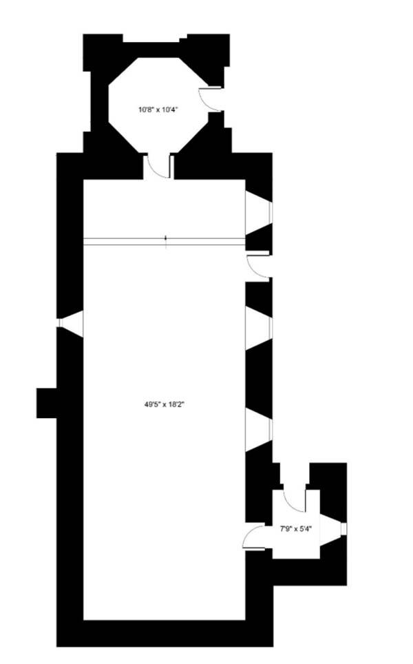 Floorplan of Former church in Lundie, Dundee