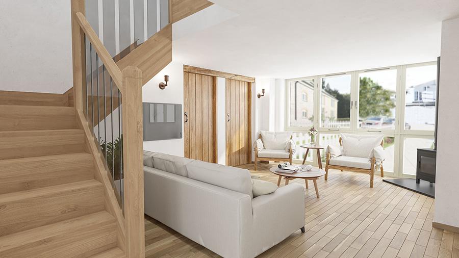 Three bedroom barn near Holsworthy, North Devon, available off plan