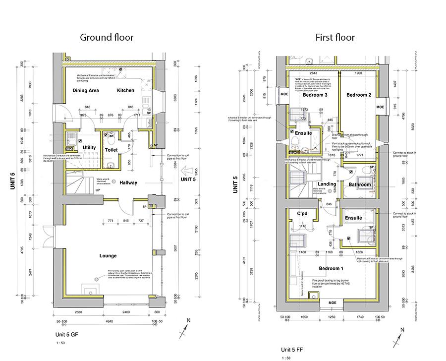 Floorplan of Devon barn conversion for sale near Holsworthy