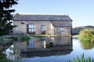Barn conversion with land and duck pond near Crediton