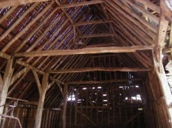 Suffolk Timber Frame Of Barn