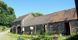 Two unconverted barns each with planning permission for conversion in Swiss Valley, Llanelli, West Wales