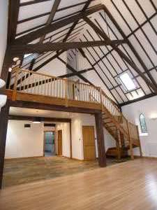 Newly converted Victorian chapel in Morrow, near Peterborough in Cambridgeshire