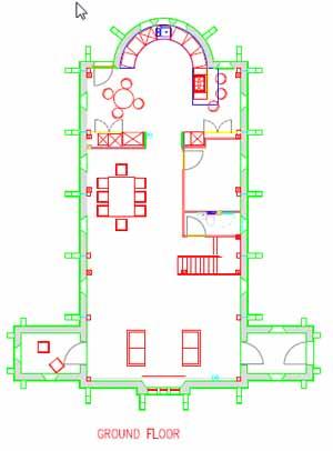 Floorplan of Chapel conversion near Peterborough, Cambridgeshire