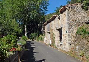 Partly converted barn in Palairac in the Aude region of Languedoc